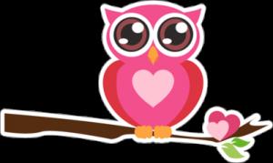 На автомобиль Наклейка «Совушка»День Святого Валентина<br><br>