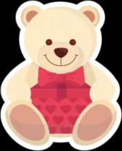 На автомобиль Наклейка «Тедди c подарком»День Святого Валентина<br><br>
