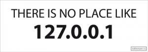 На автомобиль Наклейка «There is no place like 127.0.0.1»Разные<br><br>