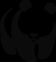 На автомобиль Наклейка «Тонированная панда»Тонировка<br><br>
