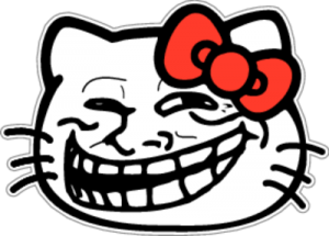 На автомобиль Наклейка «Troll Hello Kitty»Разные<br><br>