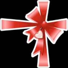 На автомобиль Наклейка «Упаковочный бант»День Святого Валентина<br><br>