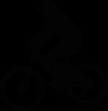 На автомобиль Наклейка «Велосипедист»Велосипед<br><br>