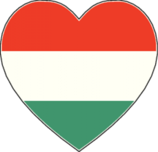 На автомобиль Наклейка «Венгрия сердце»Страны и путешествия<br><br>