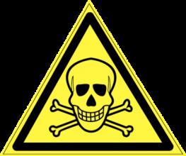 На автомобиль Наклейка «W-03 Опасно. Ядовитые вещества»Предупреждающие<br><br>