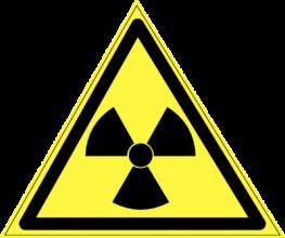 На автомобиль Наклейка «W-05 Опасно. Радиоактивные вещества или ионизирующее излучение»Предупреждающие<br><br>