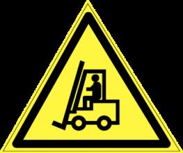 На автомобиль Наклейка «W-07 Внимание! Автопогрузчик»Предупреждающие<br><br>
