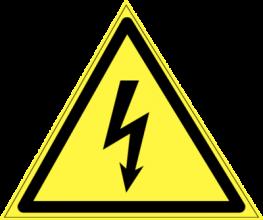 На автомобиль Наклейка «W-08 Опасность поражения электрическим током»Предупреждающие<br><br>