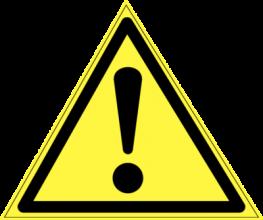 На автомобиль Наклейка «W-09 Внимание. Опасность (прочие опасности)»Предупреждающие<br><br>