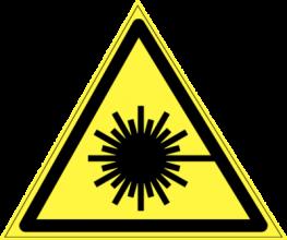 На автомобиль Наклейка «W-10 Опасно. Лазерное излучение»Предупреждающие<br><br>