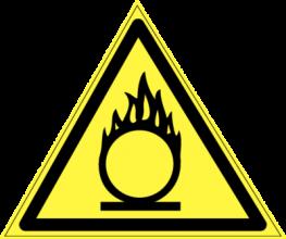 На автомобиль Наклейка «W-11 Пожароопасно. Окислитель»Предупреждающие<br><br>