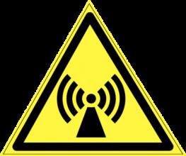 На автомобиль Наклейка «W-12 Внимание. Электромагнитное поле»Предупреждающие<br><br>
