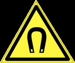 На автомобиль Наклейка «W-13 Внимание. Магнитное поле»Предупреждающие<br><br>