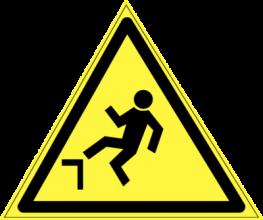 На автомобиль Наклейка «W-15 Осторожно. Возможно падение с высоты»Предупреждающие<br><br>