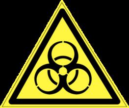 На автомобиль Наклейка «W-16 Осторожно. Биологическая опасность (инфекционные вещества)»Предупреждающие<br><br>