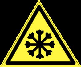 На автомобиль Наклейка «W-17 Осторожно! Холод»Предупреждающие<br><br>
