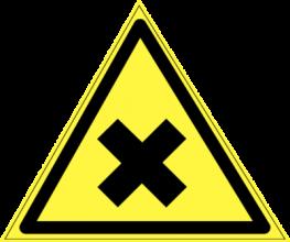 На автомобиль Наклейка «W-18 Осторожно. Вредные для здоровья аллергические (раздражающие вещества)»Предупреждающие<br><br>