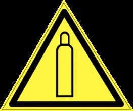 На автомобиль Наклейка «W-19 Газовый баллон»Предупреждающие<br><br>