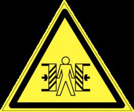 На автомобиль Наклейка «W-23 Осторожно, опасность зажима»Предупреждающие<br><br>