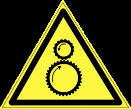 На автомобиль Наклейка «W-29 Возможно затягивание между вращающимися элементами»Предупреждающие<br><br>