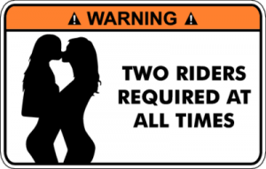 На автомобиль Наклейка «Warning Two Riders Required»Warning<br><br>