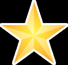 На автомобиль Наклейка «Желтая победная звезда»Ко Дню Победы<br><br>