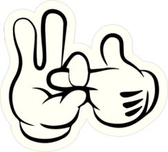 На автомобиль Наклейка «Жесты руками»Автостиль<br><br>