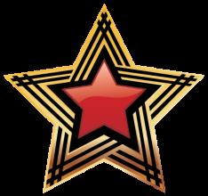 На автомобиль Наклейка «Звезда»Ко Дню Победы<br><br>