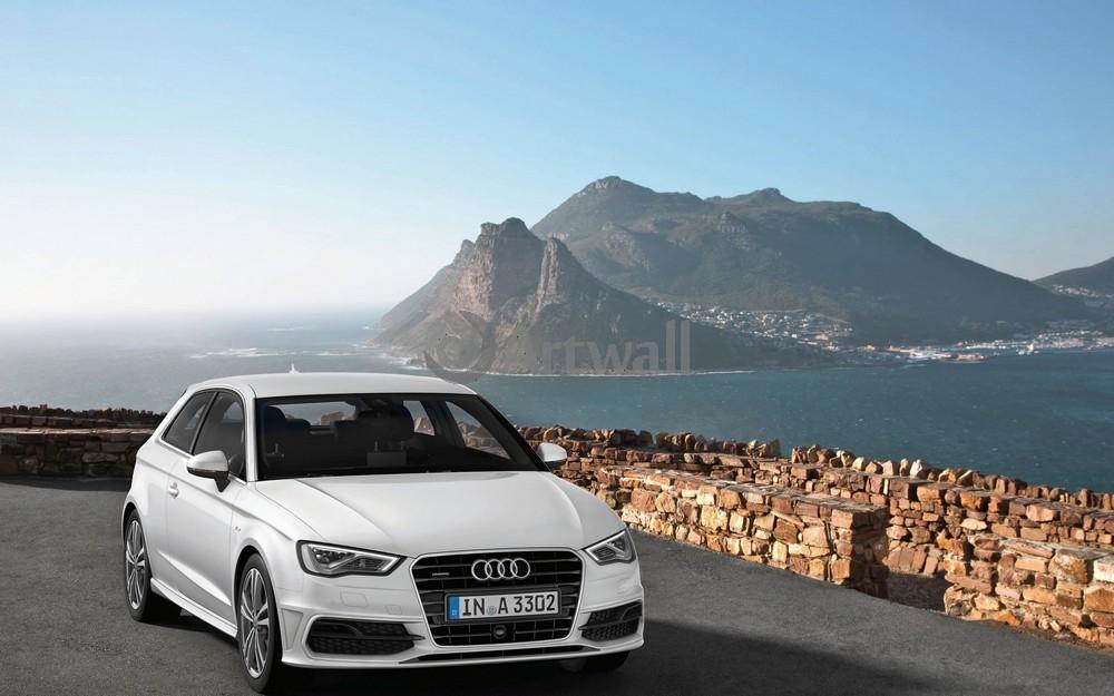 Постер Audi A3, 32x20 см, на бумагеA3<br>Постер на холсте или бумаге. Любого нужного вам размера. В раме или без. Подвес в комплекте. Трехслойная надежная упаковка. Доставим в любую точку России. Вам осталось только повесить картину на стену!<br>