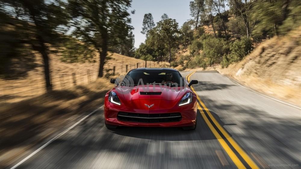 Постер Chevrolet Corvette Stingray, 36x20 см, на бумагеCorvette Stingray<br>Постер на холсте или бумаге. Любого нужного вам размера. В раме или без. Подвес в комплекте. Трехслойная надежная упаковка. Доставим в любую точку России. Вам осталось только повесить картину на стену!<br>