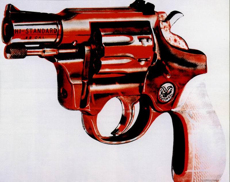 Уорхол Энди, картина ПистолетУорхол Энди<br>Репродукция на холсте или бумаге. Любого нужного вам размера. В раме или без. Подвес в комплекте. Трехслойная надежная упаковка. Доставим в любую точку России. Вам осталось только повесить картину на стену!<br>