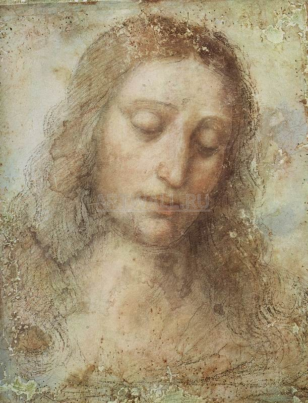 Да Винчи Леонардо, картина Голова ХристаДа Винчи Леонардо<br>Репродукция на холсте или бумаге. Любого нужного вам размера. В раме или без. Подвес в комплекте. Трехслойная надежная упаковка. Доставим в любую точку России. Вам осталось только повесить картину на стену!<br>
