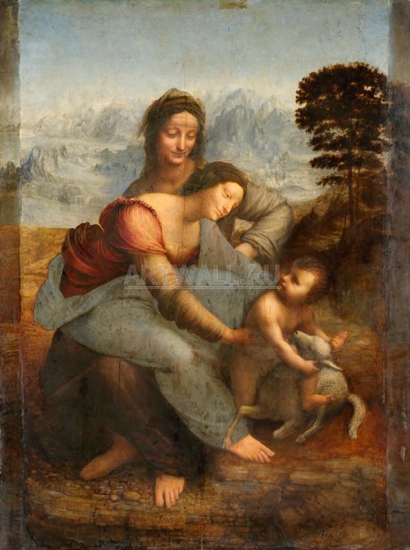 Да Винчи Леонардо, картина Св. Анна и Мария с младенцемДа Винчи Леонардо<br>Репродукция на холсте или бумаге. Любого нужного вам размера. В раме или без. Подвес в комплекте. Трехслойная надежная упаковка. Доставим в любую точку России. Вам осталось только повесить картину на стену!<br>
