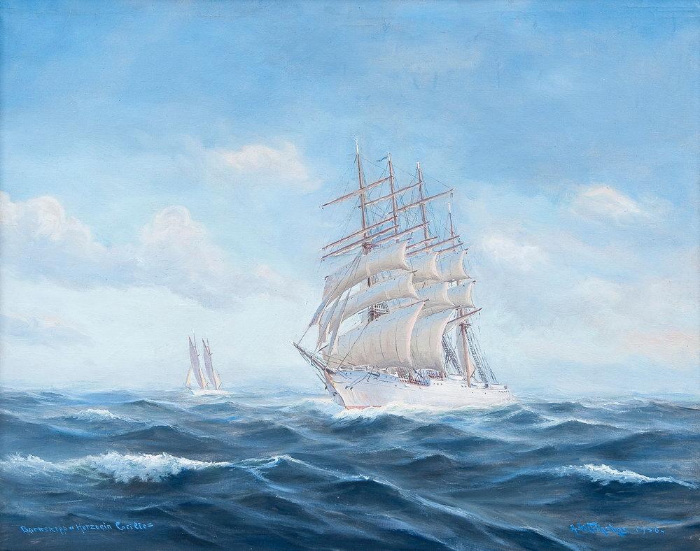 Пейзаж морской Вильгельмс Александр, Герцогиня СесилиПейзаж морской<br>Репродукция на холсте или бумаге. Любого нужного вам размера. В раме или без. Подвес в комплекте. Трехслойная надежная упаковка. Доставим в любую точку России. Вам осталось только повесить картину на стену!<br>
