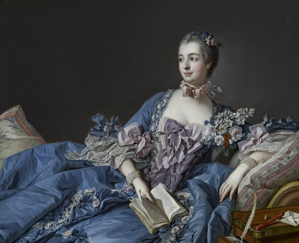 "Буше Франсуа, картина ""Портрет маркизы Помпадур"" от Artwall"