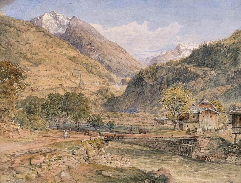 Пейзаж горный и водопады