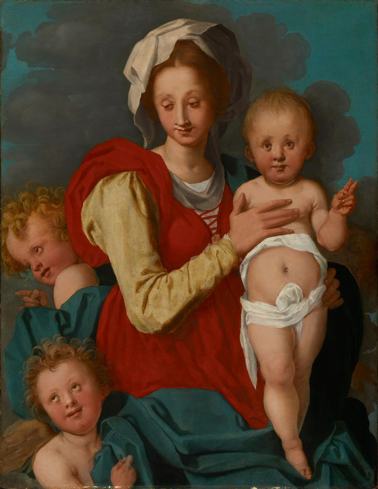 Мадонна с младенцем - живопись, картина Понтормо. Мадонна с младенцем и двумя ангеламиМадонна с младенцем - живопись<br>Репродукция на холсте или бумаге. Любого нужного вам размера. В раме или без. Подвес в комплекте. Трехслойная надежная упаковка. Доставим в любую точку России. Вам осталось только повесить картину на стену!<br>