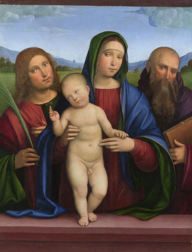 Искусство, картина Франческо Франча «Мадонна с младенцем и двумя святыми», 20x26 см, на бумагеМадонна с младенцем - живопись<br>Постер на холсте или бумаге. Любого нужного вам размера. В раме или без. Подвес в комплекте. Трехслойная надежная упаковка. Доставим в любую точку России. Вам осталось только повесить картину на стену!<br>