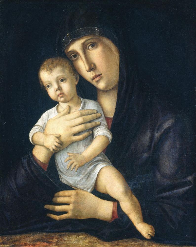 Мадонна с младенцем - живопись, картина Беллини. Мадонна с младенцем (3)Мадонна с младенцем - живопись<br>Репродукция на холсте или бумаге. Любого нужного вам размера. В раме или без. Подвес в комплекте. Трехслойная надежная упаковка. Доставим в любую точку России. Вам осталось только повесить картину на стену!<br>