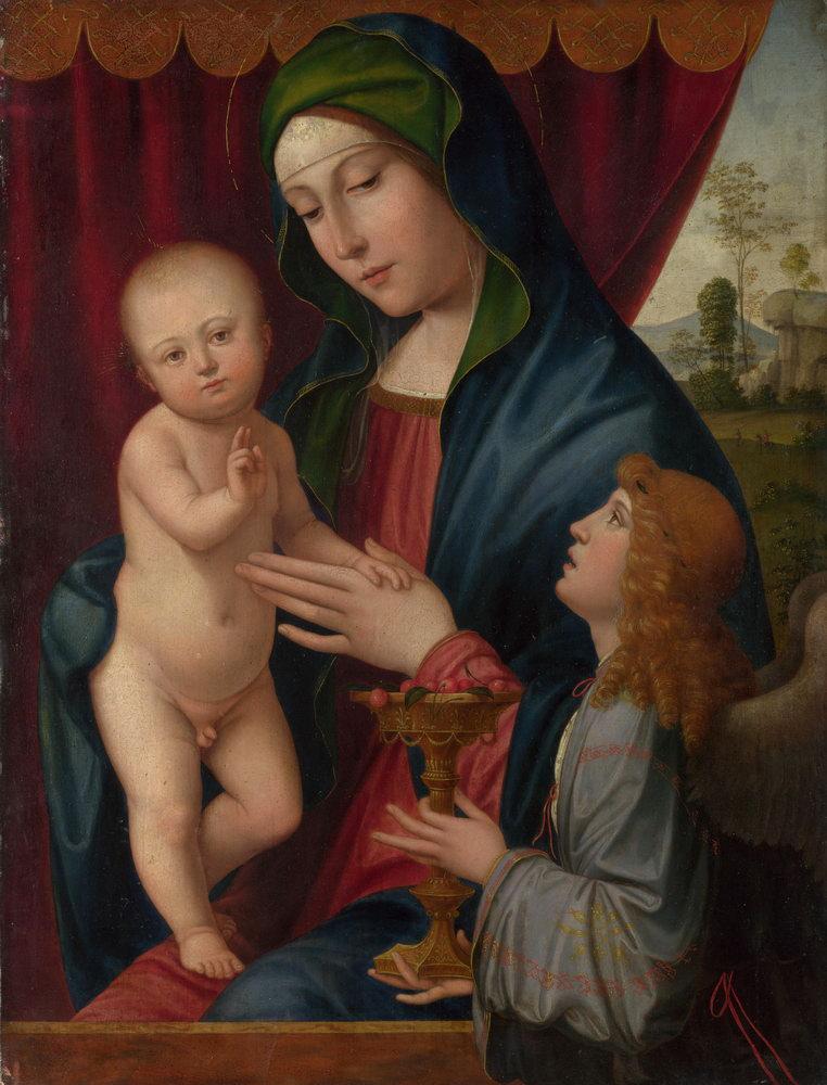 Мадонна с младенцем - живопись, картина Франческо Франча. Мадонна с младенцем и ангеломМадонна с младенцем - живопись<br>Репродукция на холсте или бумаге. Любого нужного вам размера. В раме или без. Подвес в комплекте. Трехслойная надежная упаковка. Доставим в любую точку России. Вам осталось только повесить картину на стену!<br>