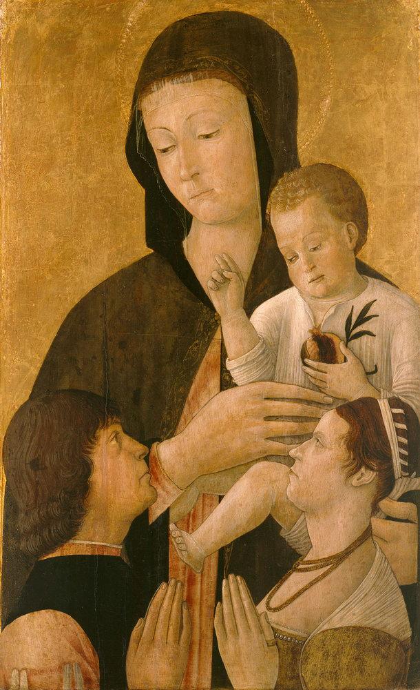Мадонна с младенцем - живопись, картина Беллини. Мадонна с младенцем и дарителямиМадонна с младенцем - живопись<br>Репродукция на холсте или бумаге. Любого нужного вам размера. В раме или без. Подвес в комплекте. Трехслойная надежная упаковка. Доставим в любую точку России. Вам осталось только повесить картину на стену!<br>