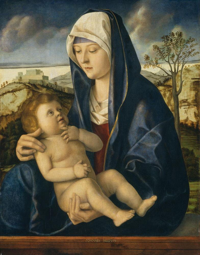 Мадонна с младенцем - живопись, картина Беллини. Мадонна с младенцем на фоне пейзажаМадонна с младенцем - живопись<br>Репродукция на холсте или бумаге. Любого нужного вам размера. В раме или без. Подвес в комплекте. Трехслойная надежная упаковка. Доставим в любую точку России. Вам осталось только повесить картину на стену!<br>