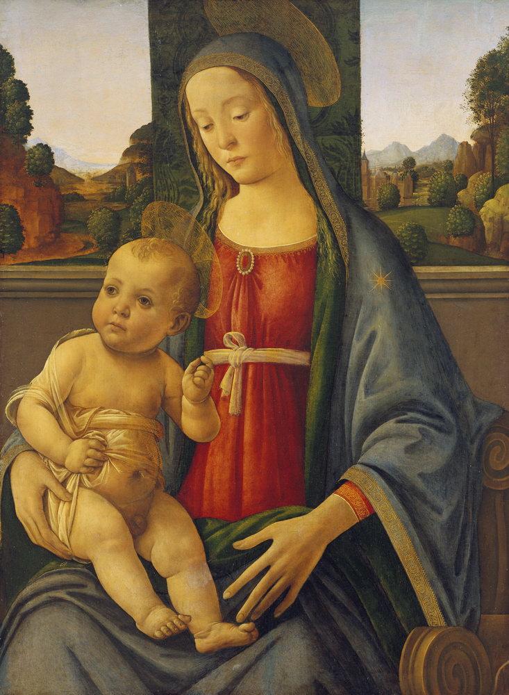Мадонна с младенцем - живопись, картина Мадонна с младенцем, mm3334Мадонна с младенцем - живопись<br>Репродукция на холсте или бумаге. Любого нужного вам размера. В раме или без. Подвес в комплекте. Трехслойная надежная упаковка. Доставим в любую точку России. Вам осталось только повесить картину на стену!<br>