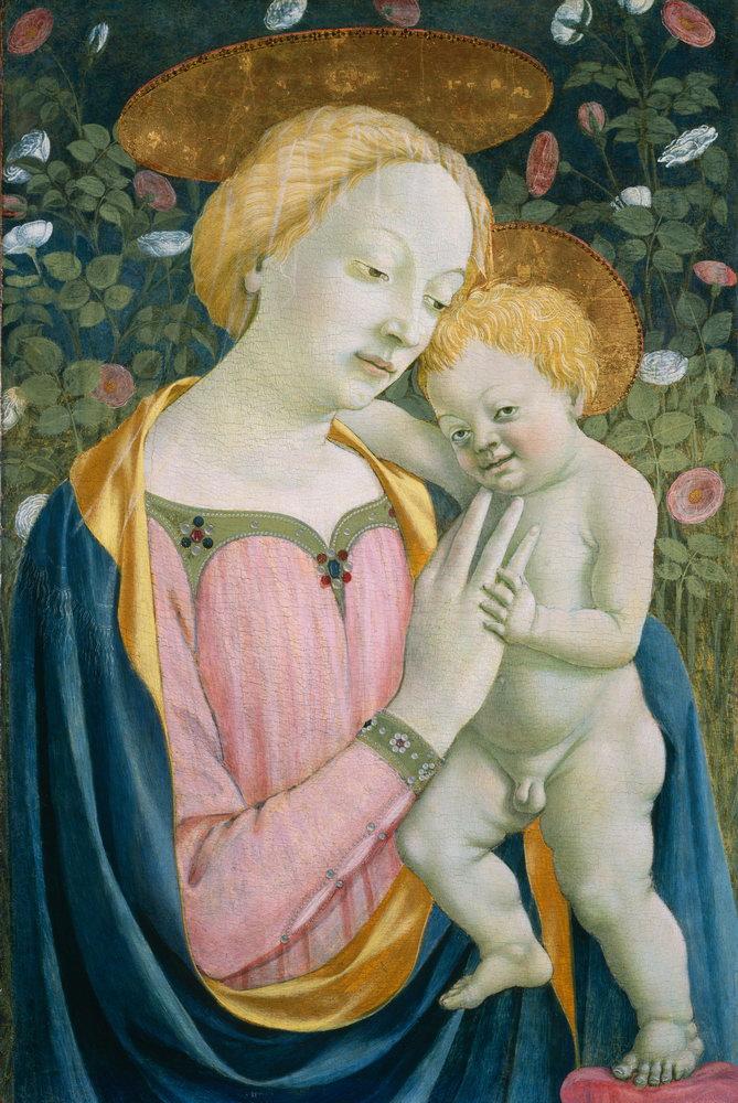 Мадонна с младенцем - живопись, картина Доменико Венециано. Мадонна с младенцемМадонна с младенцем - живопись<br>Репродукция на холсте или бумаге. Любого нужного вам размера. В раме или без. Подвес в комплекте. Трехслойная надежная упаковка. Доставим в любую точку России. Вам осталось только повесить картину на стену!<br>
