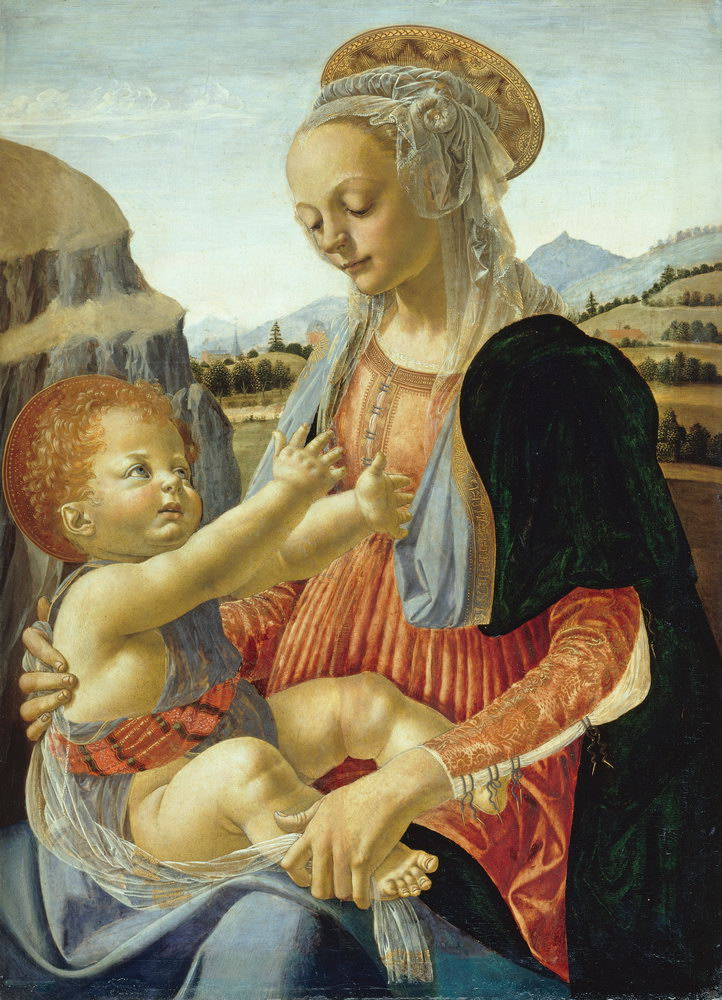 Искусство, картина Верроккьо «Мария с младенцем», 20x28 см, на бумагеМадонна с младенцем - живопись<br>Постер на холсте или бумаге. Любого нужного вам размера. В раме или без. Подвес в комплекте. Трехслойная надежная упаковка. Доставим в любую точку России. Вам осталось только повесить картину на стену!<br>
