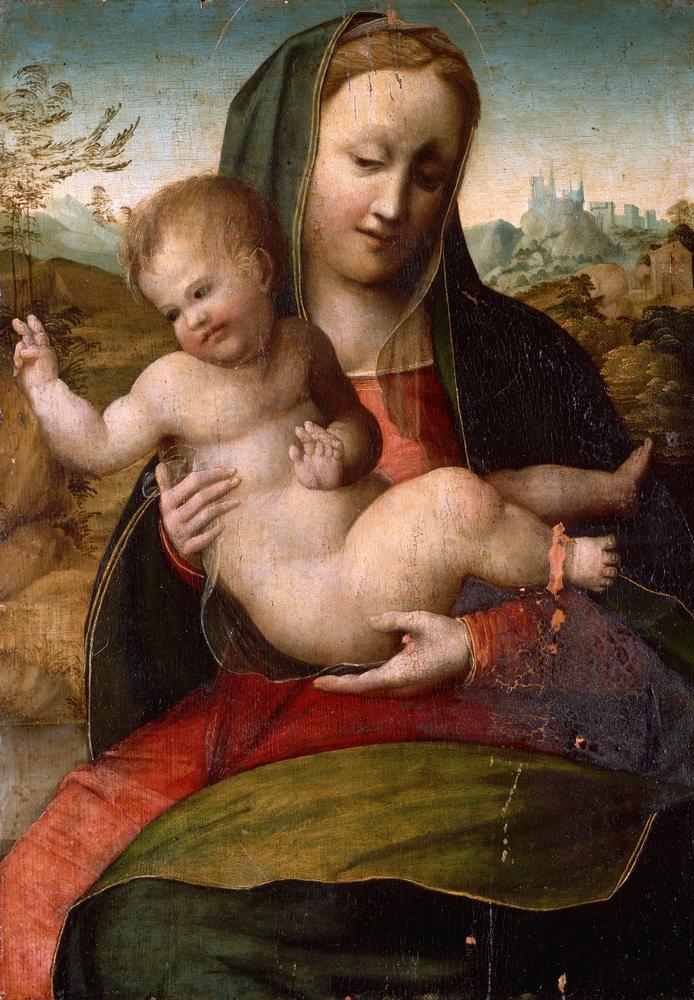 Мадонна с младенцем - живопись, картина Мадонна с младенцем, mm3391Мадонна с младенцем - живопись<br>Репродукция на холсте или бумаге. Любого нужного вам размера. В раме или без. Подвес в комплекте. Трехслойная надежная упаковка. Доставим в любую точку России. Вам осталось только повесить картину на стену!<br>