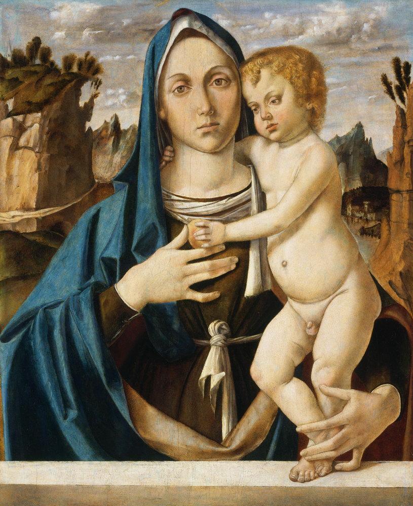Мадонна с младенцем - живопись, картина Монтанья. Мадонна с младенцем (2)Мадонна с младенцем - живопись<br>Репродукция на холсте или бумаге. Любого нужного вам размера. В раме или без. Подвес в комплекте. Трехслойная надежная упаковка. Доставим в любую точку России. Вам осталось только повесить картину на стену!<br>