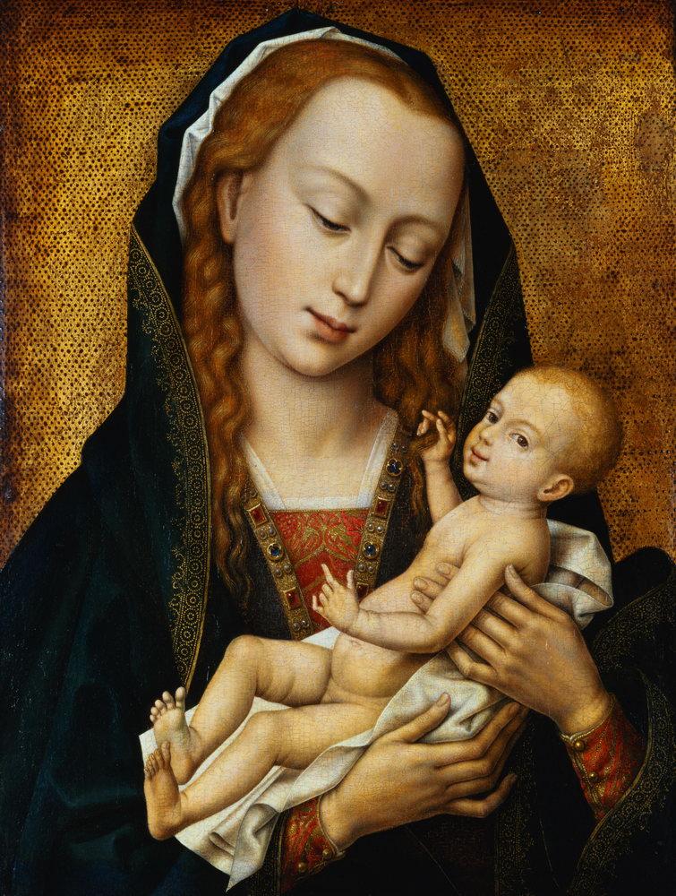 Мадонна с младенцем - живопись, картина Рогир ван дер Вейден. Мадонна с младенцемМадонна с младенцем - живопись<br>Репродукция на холсте или бумаге. Любого нужного вам размера. В раме или без. Подвес в комплекте. Трехслойная надежная упаковка. Доставим в любую точку России. Вам осталось только повесить картину на стену!<br>