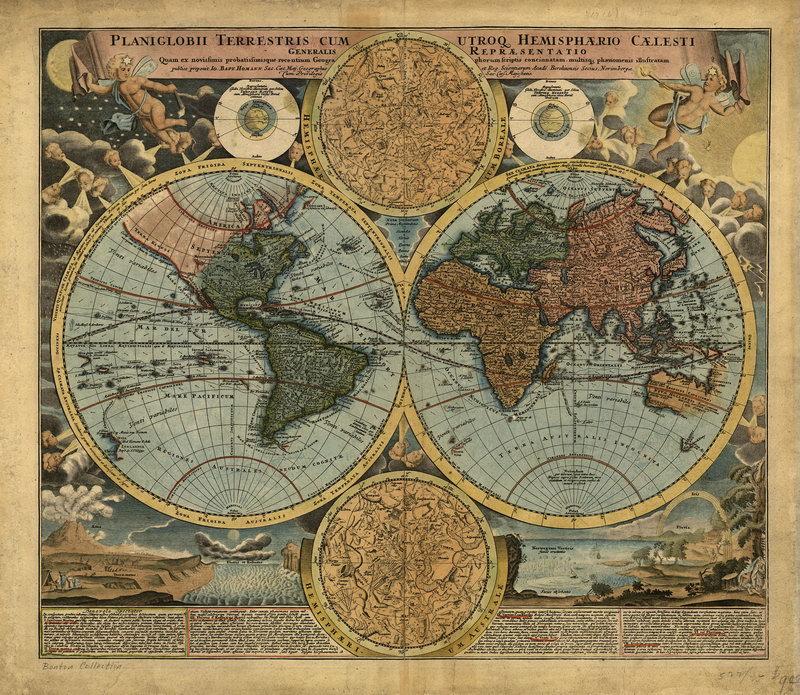 Постер Старинные карты Карта мира (1716)Старинные карты<br>Постер на холсте или бумаге. Любого нужного вам размера. В раме или без. Подвес в комплекте. Трехслойная надежная упаковка. Доставим в любую точку России. Вам осталось только повесить картину на стену!<br>