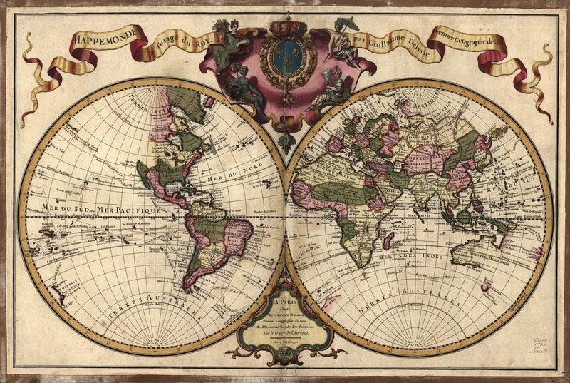 Старинные карты, картина Карта мира (1720)Старинные карты<br>Репродукция на холсте или бумаге. Любого нужного вам размера. В раме или без. Подвес в комплекте. Трехслойная надежная упаковка. Доставим в любую точку России. Вам осталось только повесить картину на стену!<br>